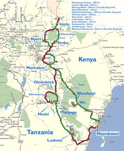 Mount Kenia Karte.Overcross Motoradreise Durch Kenia Tansania