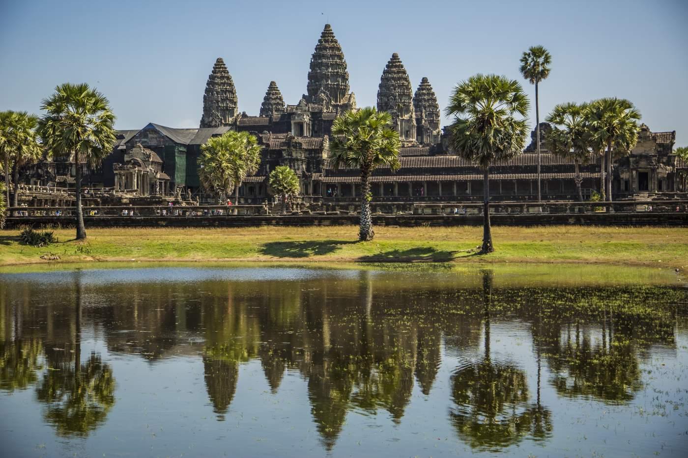 Ankor Wat Kambodscha Tempelanlage Reise Urlaub Motorrad